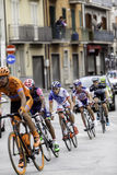 Benevento, zeventiende kan 2015 - de fietser van girod'italia 2015 op fietsras Stock Fotografie