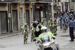 Benevento, zeventiende kan 2015 - de fietsras van girod'italia 2015 Stock Foto's