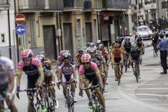 Benevento, zeventiende kan 2015 - de fietsras van girod'italia 2015 Stock Afbeelding