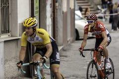 Benevento, zeventiende kan 2015 - de fietsras van girod'italia 2015 Royalty-vrije Stock Foto's