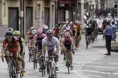 Benevento, zeventiende kan 2015 - de fietsras van girod'italia 2015 Stock Fotografie