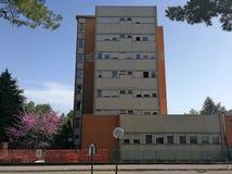 Benevento - Zijvoorgevel van San Pio Pavilion van het Burgerlijke Ziekenhuis royalty-vrije stock foto's