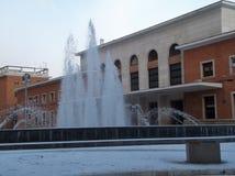 Benevento - zimy stacja widok Obrazy Royalty Free