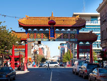 Benevolent Arch, Chinatown, Victoria, BC Stock Images