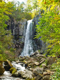 Benevskoy Waterfall on Elomovsky Spring in the Russian royalty free stock images