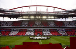 Benfica fotbollsarena, lek för mästareligafotboll Fotografering för Bildbyråer