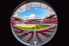 Benfica stadium in Lisbon, Portugal. Royalty Free Stock Photo