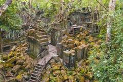 Beng Mealea寺庙,吴哥,柬埔寨 库存图片