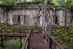 Beng Mealea, Angkor,柬埔寨废墟 免版税库存图片