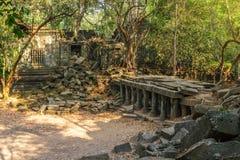 Beng Mealea świątynne ruiny w Siem Przeprowadzają żniwa, Kambodża fotografia stock