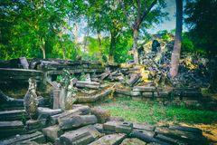 Beng Mealea or Bung Mealea temple. Siem Reap. Cambodia royalty free stock images