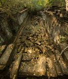 Beng Mealea. Corridor view from top Royalty Free Stock Photo
