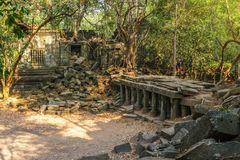 Beng Mealea-de tempelruïnes in Siem oogsten, Kambodja Stock Fotografie