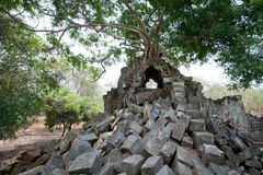 Beng Mealea Temple in Angkor Royalty Free Stock Images