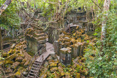 Beng Mealea Temple, Angkor, Cambodia. Beng Mealea Temple ruines in the middle of jungle forest Stock Image