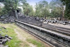 Beng Mealea temple  ruin in the Koh Ker complex, Siem Reap, Cambodia.  Royalty Free Stock Images