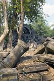 Beng Mealea temple  ruin in the Koh Ker complex, Siem Reap, Cambodia.  Stock Images