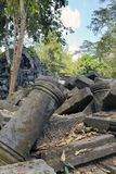 Beng Mealea temple  ruin in the Koh Ker complex, Siem Reap, Cambodia. Beng Mealea temple ruin in the Koh Ker complex, Siem Reap, Cambodia Royalty Free Stock Image