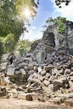Beng Mealea temple  ruin in the Koh Ker complex, Siem Reap, Cambodia.  Stock Photo