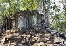 Beng Mealea temple  ruin in the Koh Ker complex, Siem Reap, Cambodia.  Royalty Free Stock Photo