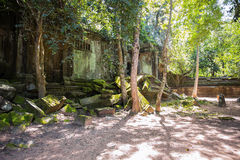 Beng Mealea temple ruins. In Angkor, Cambodia, The temple largely unrestored and is utterly consumed by jungle Royalty Free Stock Photos