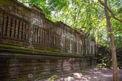 Beng Mealea temple ruins. In Angkor, Cambodia, The temple largely unrestored and is utterly consumed by jungle Royalty Free Stock Photography