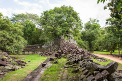 Beng Mealea temple ruins. In Angkor, Cambodia, The temple largely unrestored and is utterly consumed by jungle Stock Photos