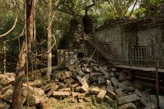 Beng Mealea trappa och stenar Royaltyfria Bilder