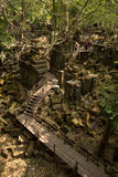 Beng Mealea way. Between ruins and vegetation Stock Photo