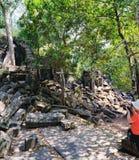 Beng Melea Temple em Camboja fotografia de stock royalty free