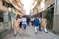 Bengaalse gemeenschap in Kolkata Stock Foto's