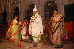 Bengaalse huwelijksRituelen in India Royalty-vrije Stock Fotografie