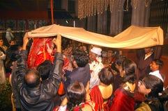 Bengaalse huwelijksRituelen in India Stock Afbeeldingen