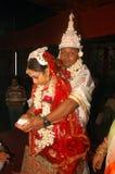 Bengaalse huwelijksRituelen in India Stock Afbeelding