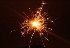 Bengal fire. Christmas sparkler Royalty Free Stock Image