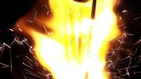 Bengal-Licht-Flammen-brennende Scheine stock video