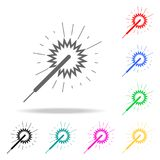 Bengal lights icon. Elements of party multi colored icons. Premium quality graphic design icon. Simple icon for websites, web desi. Gn, mobile app, info graphics Royalty Free Stock Photography