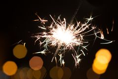 Bengal lights, sparkle background. Christmas time, new year Stock Photos
