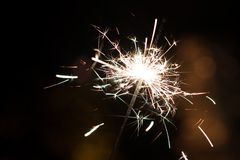 Bengal lights, sparkle background. Christmas time, new year Stock Photography