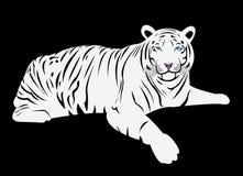 Bengal white tiger cartoon vector. A cartoon vector of a Bengal white tiger, very rare and endangered specie Royalty Free Stock Photos