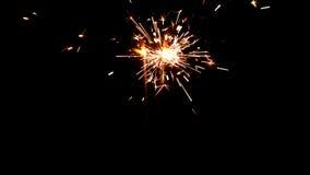 Bengalas ardientes Luces de la Navidad y del Año Nuevo Imagen de archivo libre de regalías