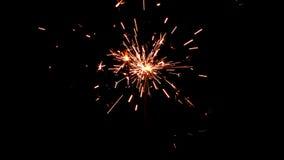 Bengalas ardientes Luces de la Navidad y del Año Nuevo Fotografía de archivo libre de regalías