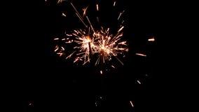 Bengalas ardientes Luces de la Navidad y del Año Nuevo Foto de archivo