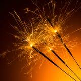 Bengalas de los fuegos artificiales Fotografía de archivo