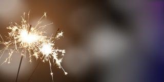 Bengalas - ` s Eve/celebración del Año Nuevo/del Año Nuevo Fotos de archivo libres de regalías