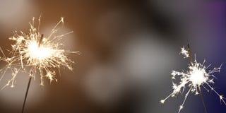 Bengalas - ` s Eve/celebración del Año Nuevo/del Año Nuevo Foto de archivo