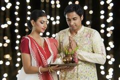 Bengalczyk pary modlenie fotografia royalty free