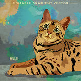Bengalen Cat Illustration Stock Foto's