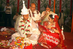 Bengalese che wedding i rituali in India Immagine Stock