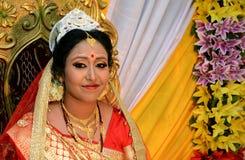 Bengali-Braut-Porträt Stockfoto